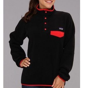 Patagonia Synchilla Snap Fleece Black and Red